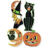 Retro Vintage Halloween Cutouts
