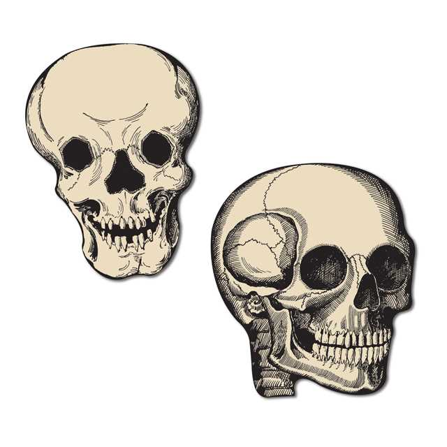 Skull Mini Cutouts (10/pkg)