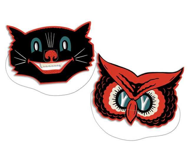 Owl Amp Cat Masks 2 Pkg