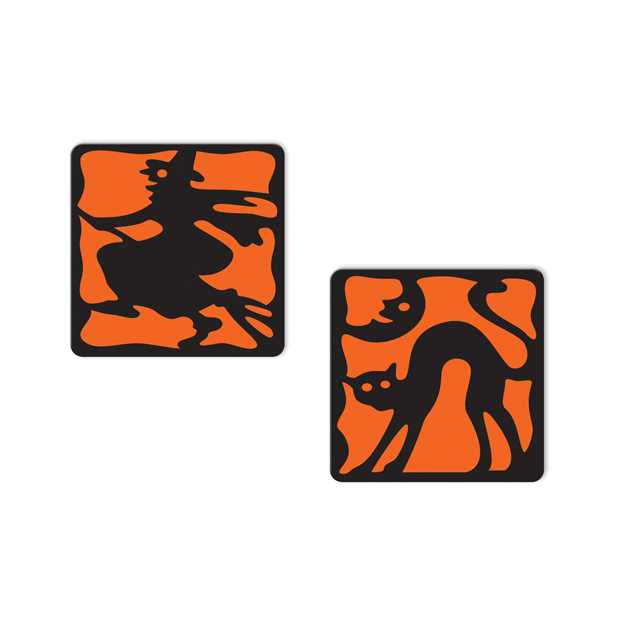 Halloween Silhouette Coasters