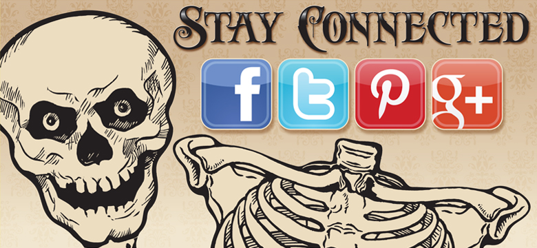 Click on Facebook, Twitter, Pinterest, or Google+