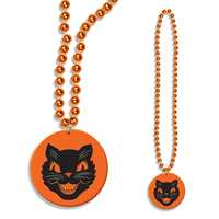 Bead w/Stickered Cat Medallion