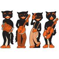 Scat Cat Band Cutouts (4/pkg)