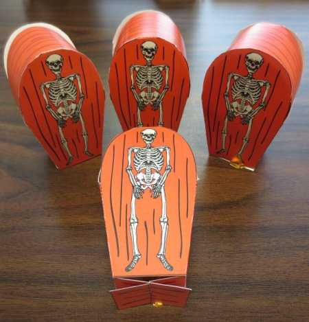Free Skeleton Candy Coffin Party Favor
