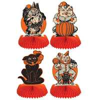 Halloween Centerpieces Halloween Centerpieces,vintage Halloween decorations,honeycomb tissue centerpiece