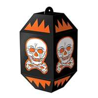 Vintage Halloween Skull Paper Lanterns Vintage Halloween Skull Paper Lanterns, retro Halloween decorations, vintage Halloween decorations, Halloween hanging decorations, skull and crossbones decorations